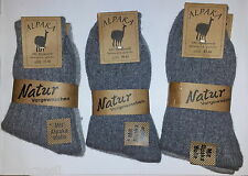 2 Pair Alpaca Socks 92% Alpaca wool Size 35-46 Grey tones (1 Pair