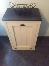 Handmade Pine Wood Trash Can /trash cabinet