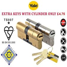 Yale Superior Anti Snap / Bump / Pick High Security Euro Cylinder uPVC Door Lock