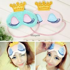 Women Cute Print  Eye Cover Goggles Comfort Sleep Masks Night Soft UTAR
