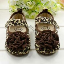 Baby Leopard Flower Kids Girl Crib Sole Shoes Anti-Slip Breathable Toddler Shoes
