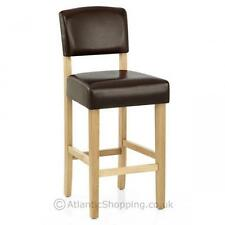 Sydney Wooden Bar Stool Bonded Real Leather