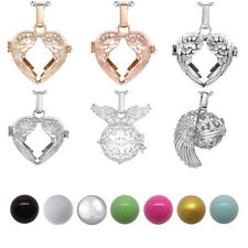 16mm Harmony Ball Bell Mexico Bola Locket Cage Pendant Pregnancy Necklace Angel