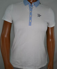 NWT Women's Tommy Hilfiger Polo Shirt Short Sleeve Top  White  Large L