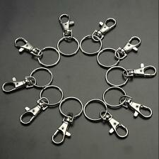 10/20 Lobster Charm Trigger Hooks Snap Key Ring Finding Swivel Bag Clasps Clips