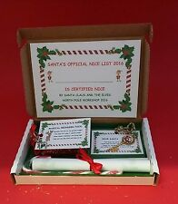 SILVER SANTA KEY CHRISTMAS EVE BOX PERSONALISED MAGIC REINDEER FOOD CANDY CANE