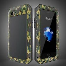 Metal Shockproof Military Aluminum Gorilla Glass Case Cover for iPhone 7 6 Plus