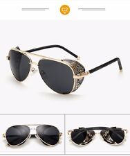 Unisex Gothic SteamPunk Glasses Eye wear Vintage Fashion Cool Sunglasses