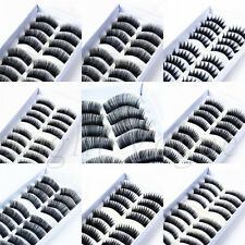10 Pairs Handmade Natural Long Cross Thick False Eyelashes Fake Eye Lashes New V