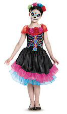Day of the Dead Dia de los Muertos Sugar Skull Girls Costume DRESS Child S M L