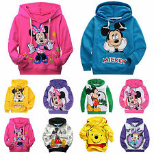 Unisex Toddler Kids Boy Mickey Minnie Sweatshirt Hoodies Pullover Tops T-shirt
