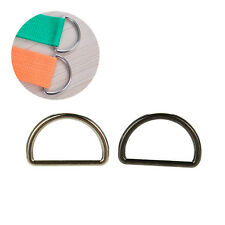 10X Metal Sliver D Ring D-rings Purse Ring Buckles For Webbing Strapping 25mm HK