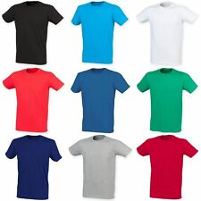 Skinni Fit Men Mens Feel Good Stretch Short Sleeve T-Shirt/Top 8 Clrs