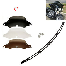 """6"""" Windshield Windscreen Trim For 96-13 Harley Touring Street Glide Electra"""