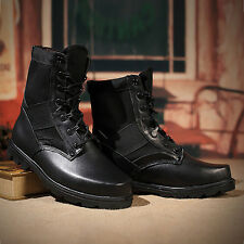 Retro Combat Boots Winter England-style Fashion Men Short Shoes Military Boots
