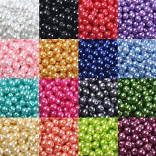 New Pearl Glass Round Spacer Loose Beads 4mm/6mm/8mm/10mm /12mm