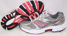 NEW Womens SAUCONY Grid Cohesion 8 S15228-15 WIDE Grey White Pink Sneakers Shoes