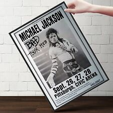 MICHAEL JACKSON CONCERT Poster | Cubical ART | Gifts For Guys | FREE Shipping