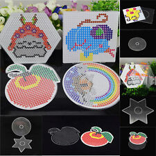 NEW Cute Pegboards for Perler Bead Hama Fuse Beads Clear Square Design Board