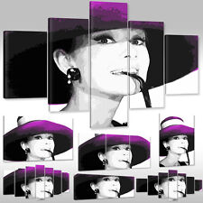 Canvas Picture Canvas Wall Tattoo Art Print Hollywood Actress Audrey Hepburn