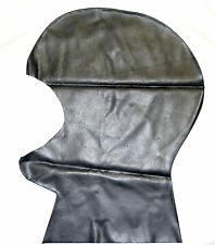 NEW Black Latex Rubber Mask with Cut out Face (ENGLISH) S M L XL