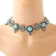Women Bohemian Turkey Gypsy Vintage Tibet Turquoise Ethnic Tribal Necklace