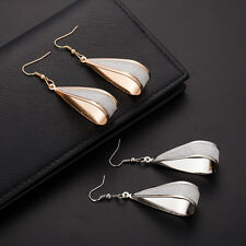Stylish Attractive Fashion Jewelry Long Drop Dangle Earring Gold Silver Party