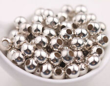 Shiny Silver Metal Round Spacer Loose Bead Jewelry Finding 5/6/8mm