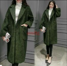 Womens Korean Lapel Long Coat Parka Winter Warm Wool Jacket Overcoat Outwear C52