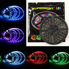 SUPERNIGHT 3528 / 5050 SMD 300LEDs / 150LEDs 5M Light Strip Black PCB Waterproof