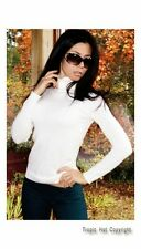 "NEW! ""KYS"" Soft, Long Sleeve, Stretching, Turtleneck, Ivory, Sweater Top S, M, L"