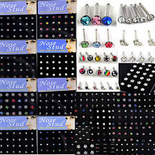 24pcs Wholesale Lot Body Jewelry Piercing 316L Surgical Steel Nose Stud Rings CH
