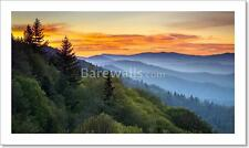 Great Smoky Mountains National Park Scenic Sunrise Landscape At Oconaluftee...