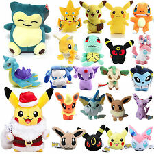Pokemon Pikachu Eevee Squirtle Lapras Plush Cute Toy TV Character Stuffed Doll