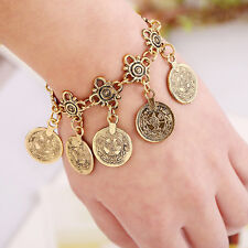 Gypsy Turkish Boho Silver/Gold Coin Tassels Anklet Bracelet Beach Foot Jewelry