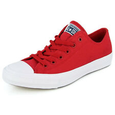 New Men's Converse Chuck Taylor All Star Ii Ox Red/white Footwear Sneakers Shoes