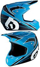 KIDS YOUTH 661 SIXSIXONE COMP MX MOTOCROSS HELMET BLACK CYAN child bike quad bmx