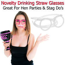 Drinking Straw Pair Of Glasses Adult Hen Party Games Tube Fun Drink Accessories