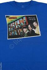THREE STOOGES-GREETINGS FROM THE STOOGES-MOE LARRY & CURLY-T-SHIRT M-L-XL-XXL