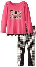 Juicy Couture Toddler Girls Fuchsia Tunic 2pc Legging Set Size 3T 4T $64.50
