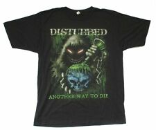 Disturbed Toxic Globe Another Way To Die Black T Shirt New Official