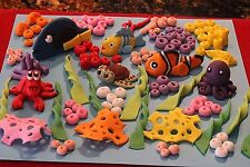 Kit Under the Sea Decoration Edible Sugar Cake Topper Ocean Theme Nemo Dory