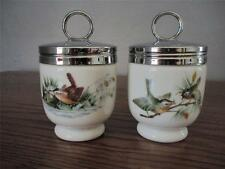 PAIR  ROYAL WORCESTER CODDLERS WREN AND FINCH PATTERN ENGLAND