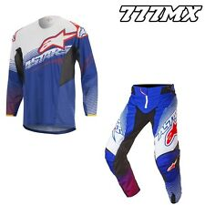 2017 ALPINESTARS TECHSTAR FACTORY KIT COMBO BLUE/WHITE/RED MOTOCROSS MX ENDURO