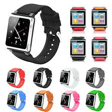 Silicone Watch Band Wrist Strap Case Cover For iPod Nano 6 6th Generation New
