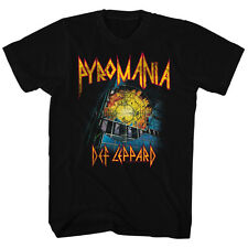 Def Leppard Mens New T-Shirt It's On Fire Licensed S/S Black 100% Cotton SM 2XL