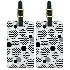 Luggage Suitcase Carry-On ID Tags Set of 2 Chevrons