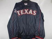 Texas Rangers Mens Small thru XL Full Zip Embroidered Faux Leather Jacket TXR 2