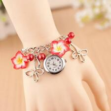 Vogue Girl Lady Lovely Flowers Chain Watch Band Analog Quartz Wristwatch Gifts