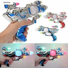 With Sound Super Toys Plastic Space Multi-Colors Children Kids Laser Spinning